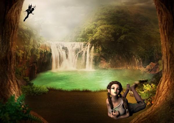 Waterfall magical mystic