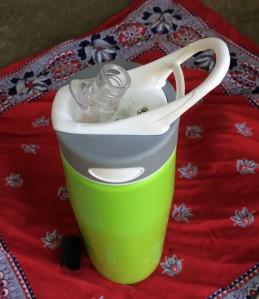 self-filtering water bottle